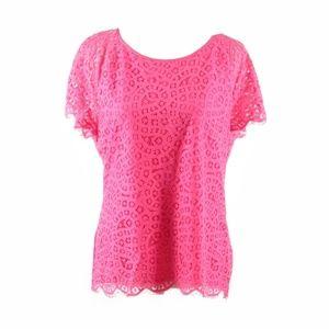 J. Crew pink cap sleeve blouse 10